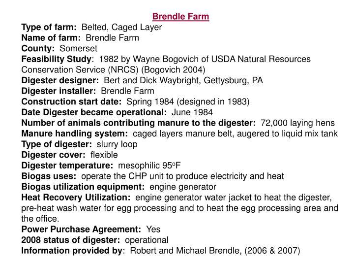 Brendle Farm