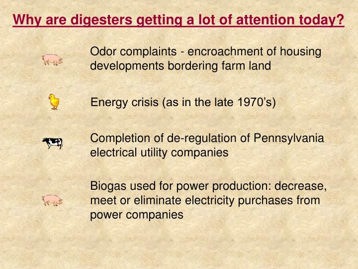 Why are digesters getting a lot of attention today?