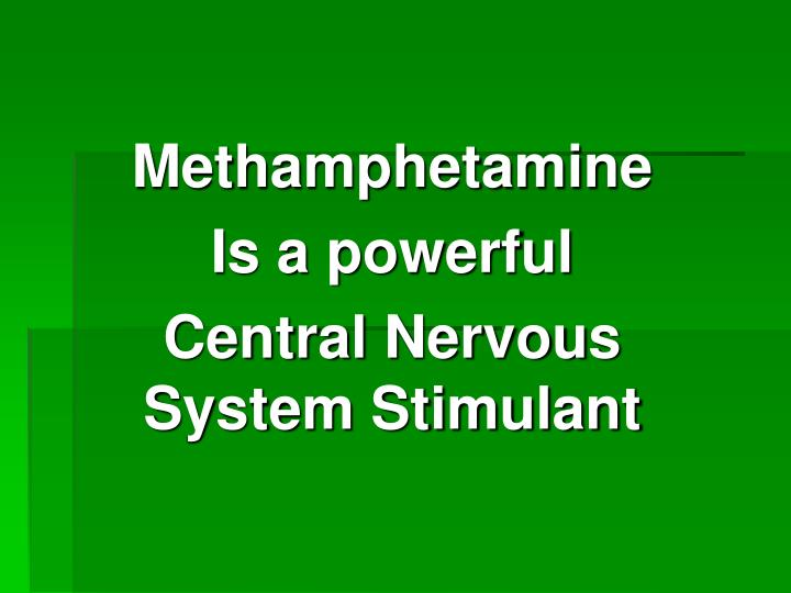 central nervous system stimulant ritalin essay Central nervous system stimulants speed the body up the exact way that a cns stimulant works will depend on the type of drug (ritalin) dextroamphetamine.