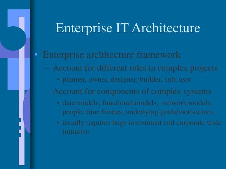 Enterprise IT Architecture