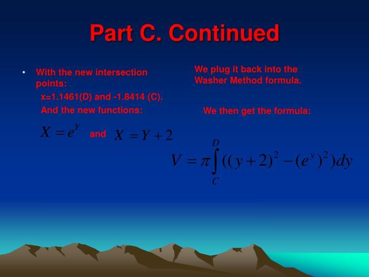 Part C. Continued