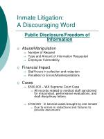 inmate litigation a discouraging word4
