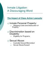 inmate litigation a discouraging word7
