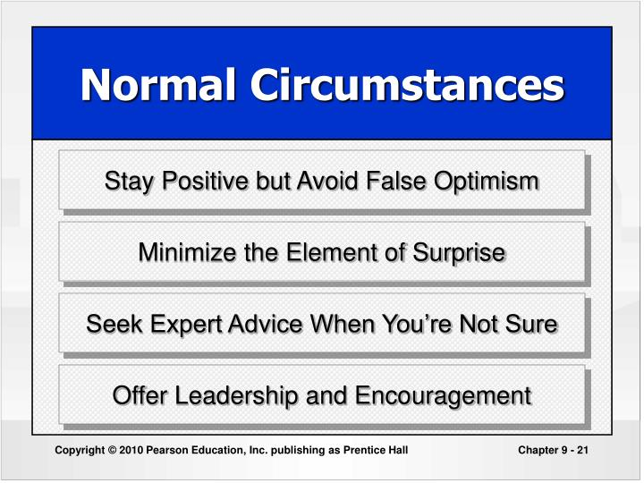 Stay Positive but Avoid False Optimism