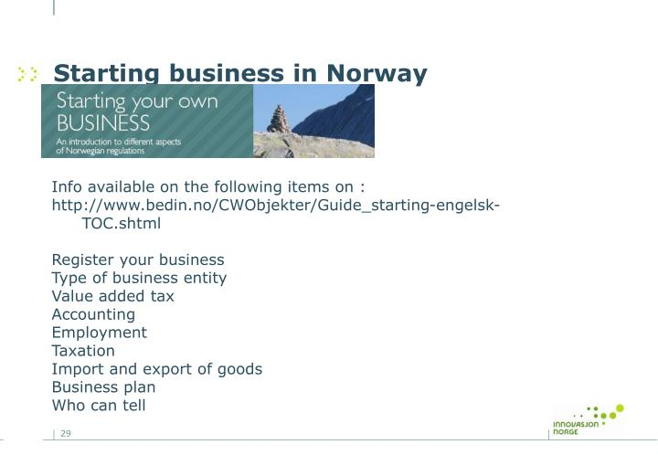 Starting business in Norway