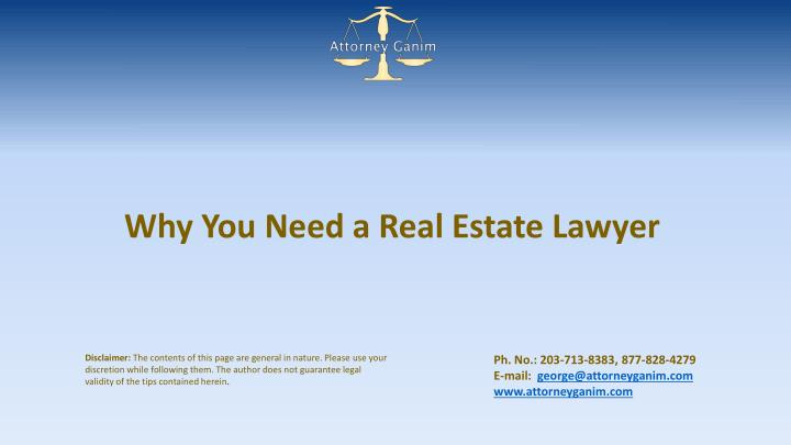 why you need a real estate lawyer n.