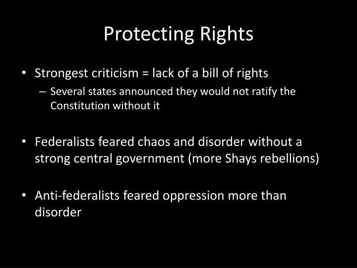 Protecting Rights