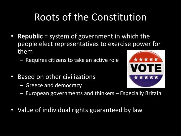 Roots of the Constitution