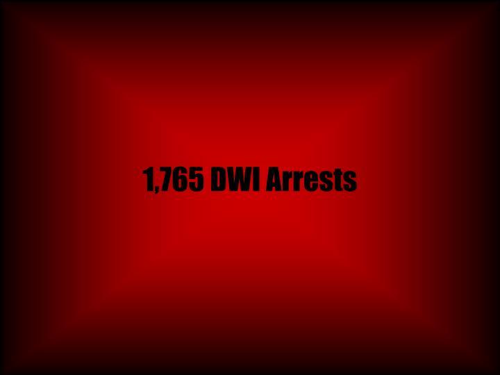 1,765 DWI Arrests