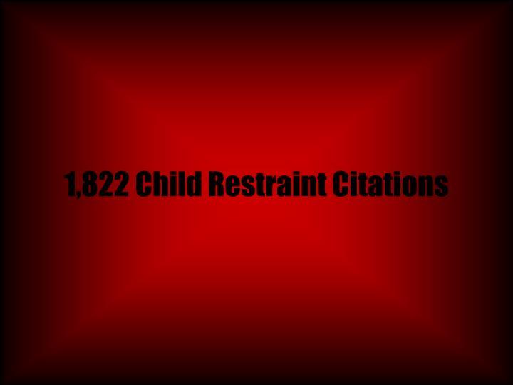 1,822 Child Restraint Citations