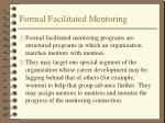 formal facilitated mentoring