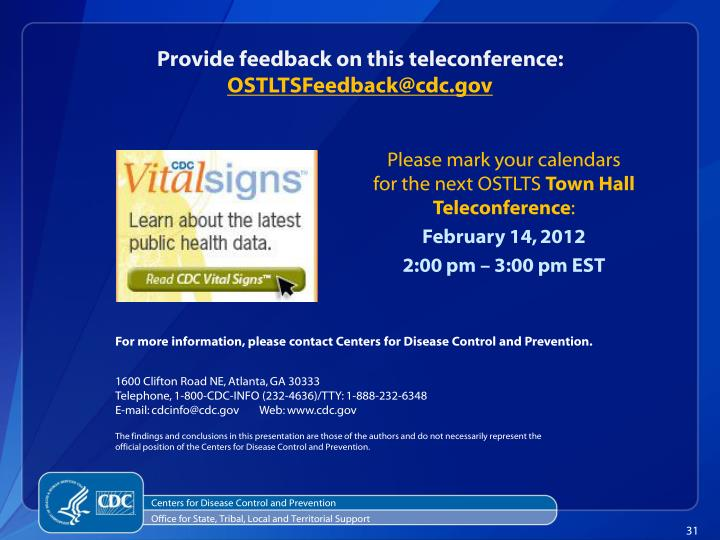 Provide feedback on this teleconference: