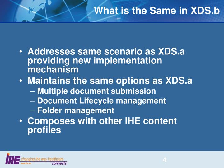 What is the Same in XDS.b
