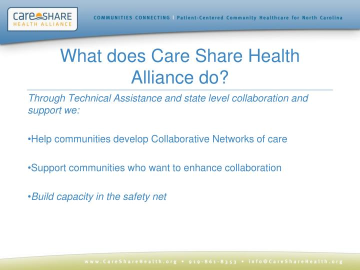 What does Care Share Health Alliance do?