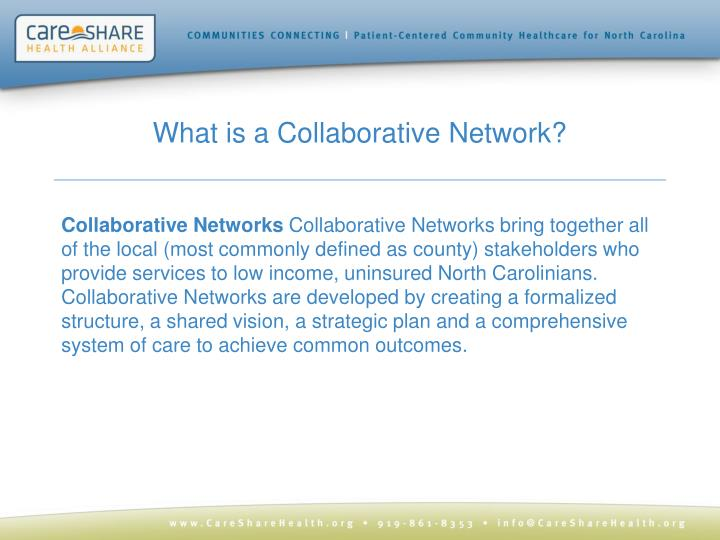 What is a Collaborative Network?