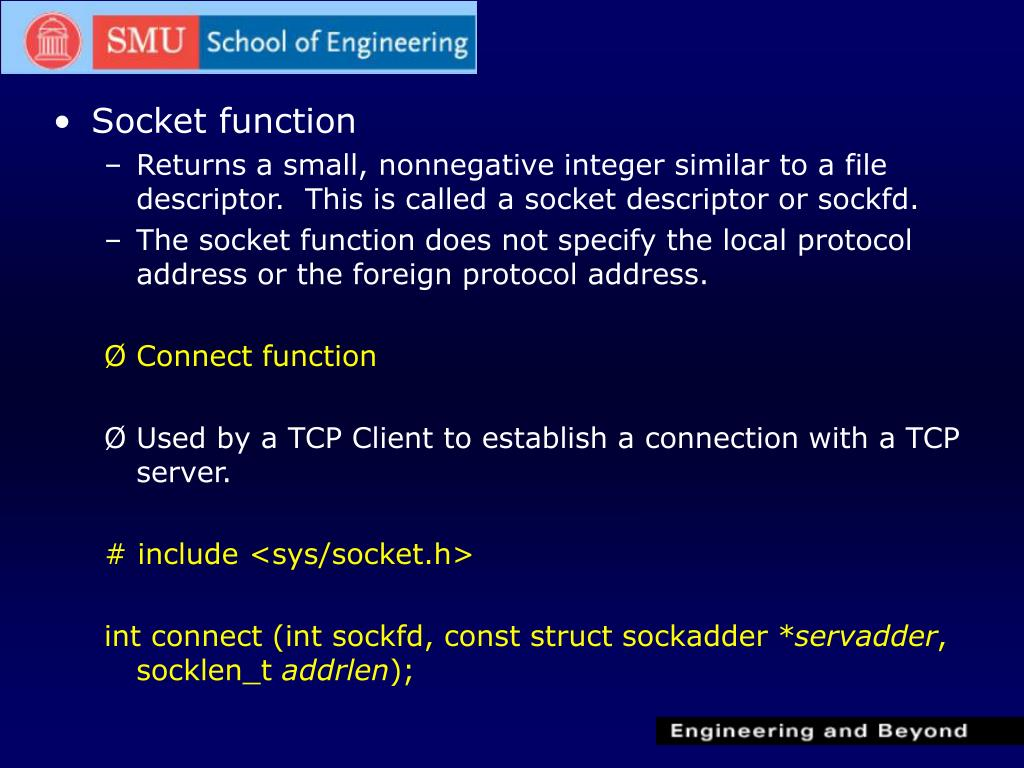 PPT - Elementary TCP Sockets PowerPoint Presentation - ID