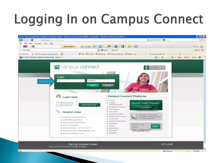 Logging In on Campus Connect
