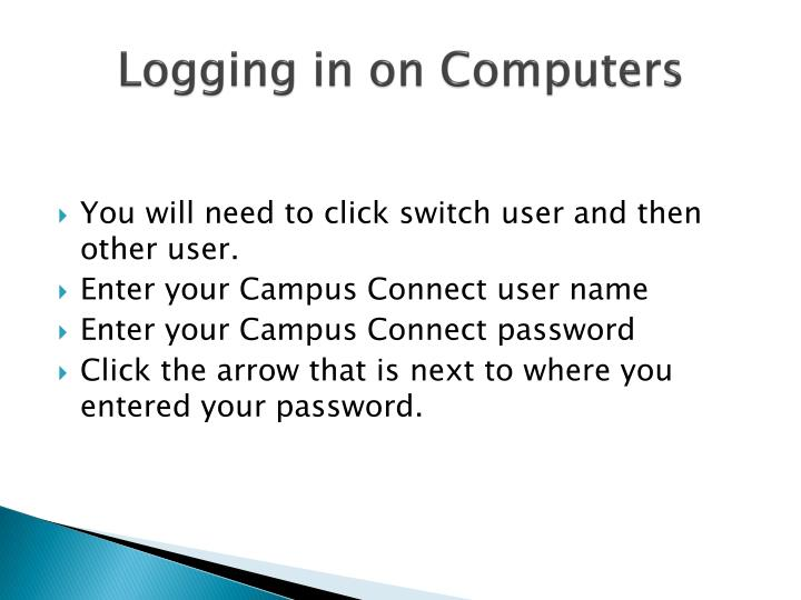 Logging in on computers