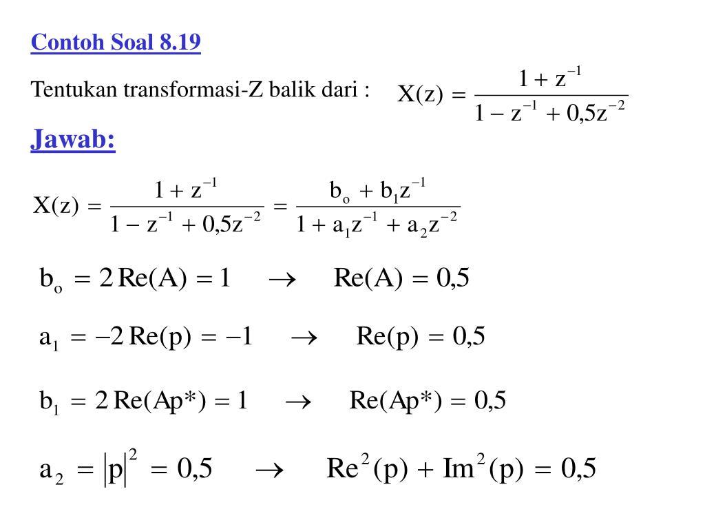 Ilmu Pengetahuan 1 Contoh Soal Transformasi Z
