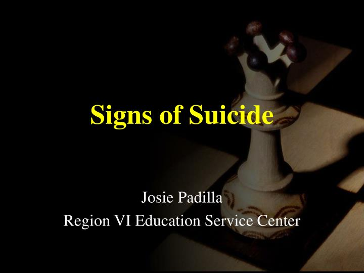 signs of suicide n.