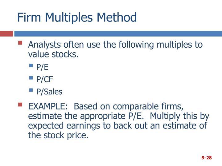 Firm Multiples Method