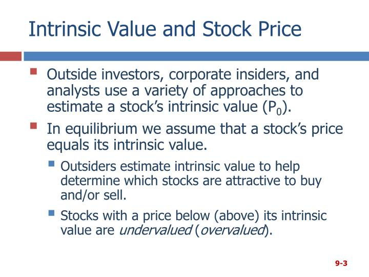 Intrinsic value and stock price