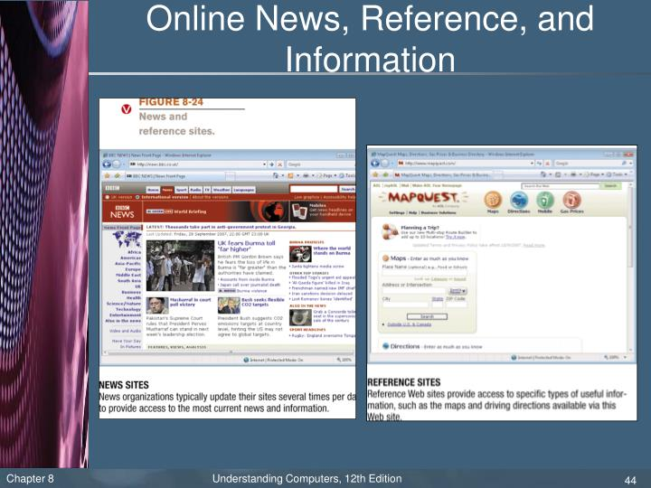 Online News, Reference, and Information