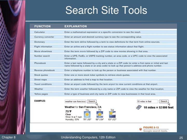 Search Site Tools