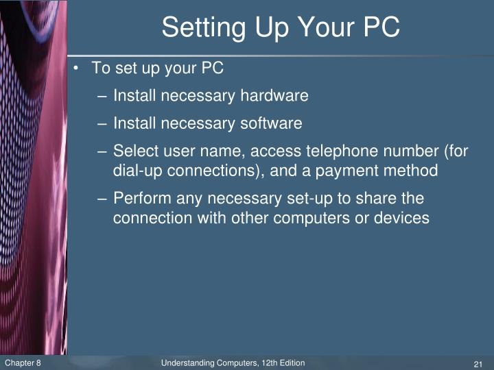 Setting Up Your PC