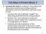 five ways to prevent abuse 2