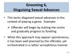grooming 6 disguising sexual advances