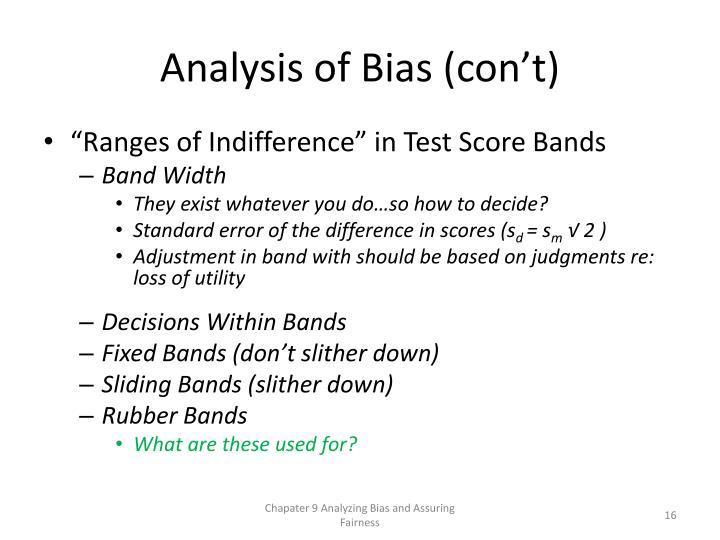 Analysis of Bias (