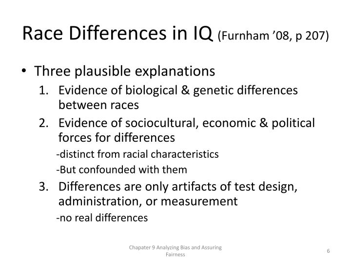 Race Differences in IQ