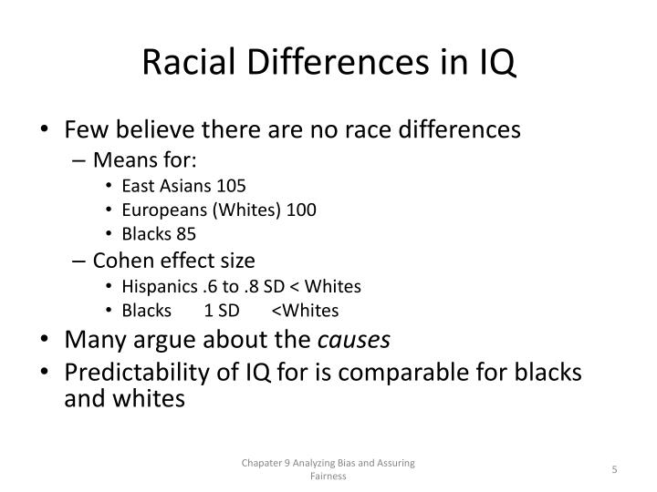 Racial Differences in IQ