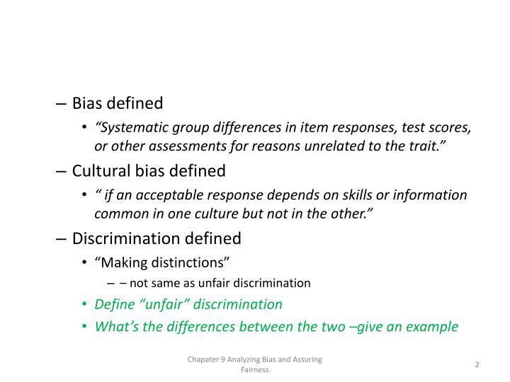 Bias defined
