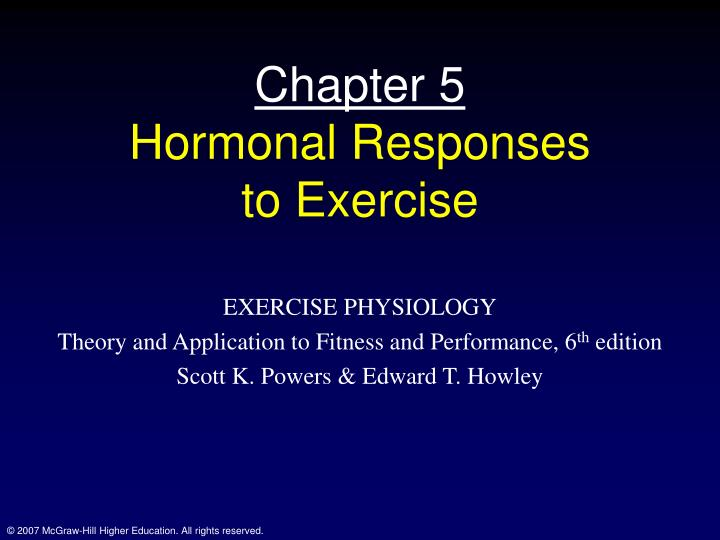 chapter 5 hormonal responses to exercise n.