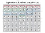 top 40 motifs when pmask 40