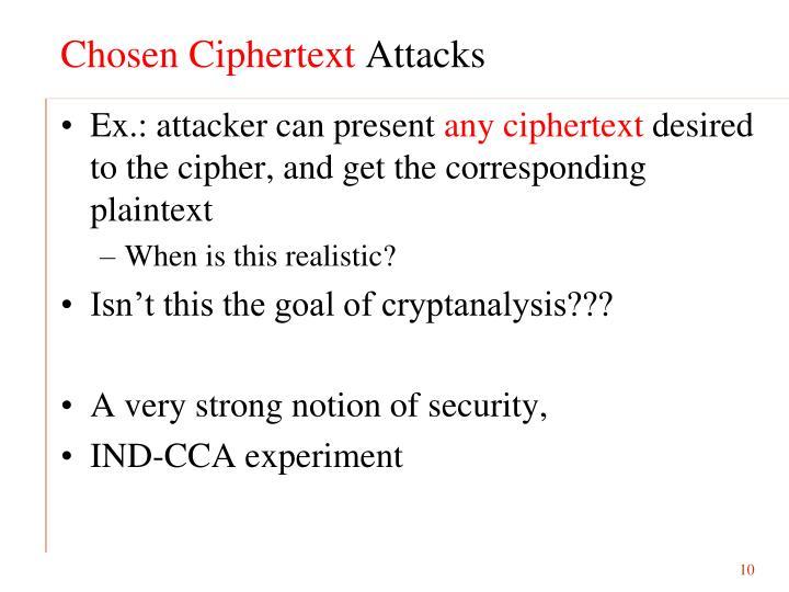 Chosen Ciphertext