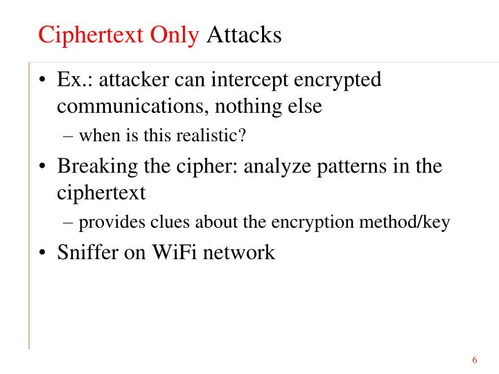 Ciphertext Only