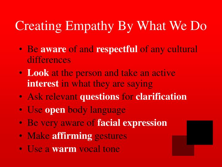 Creating Empathy By What We Do