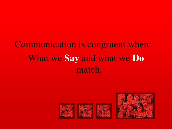 Communication is congruent when: