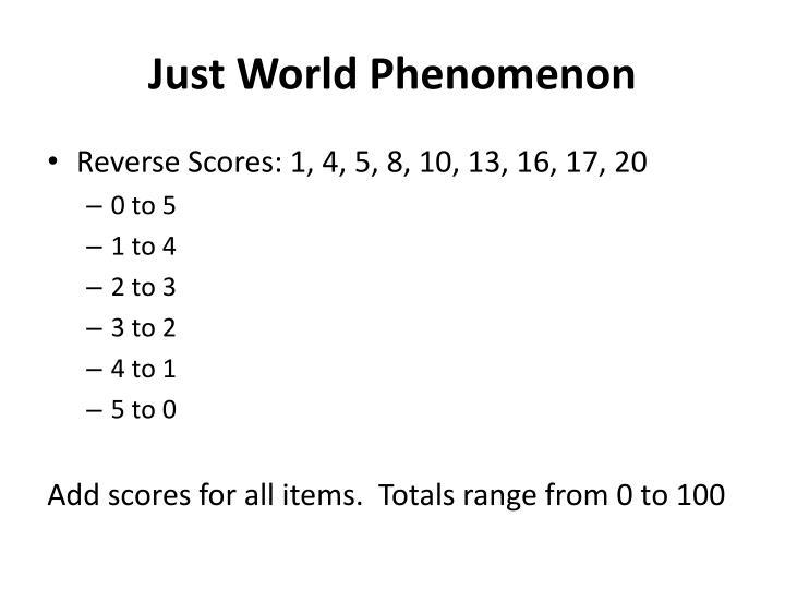Just World Phenomenon