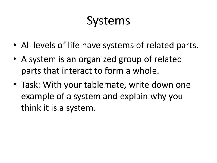systems n.