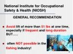 national institute for occupational safety health niosh