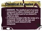 chemical fo r mulas