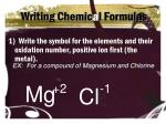 writing chemic a l formulas