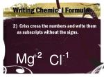 writing chemic a l formulas1