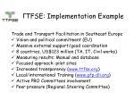ttfse implementation example