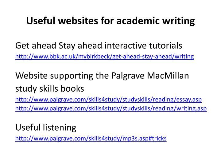 Useful websites for academic writing