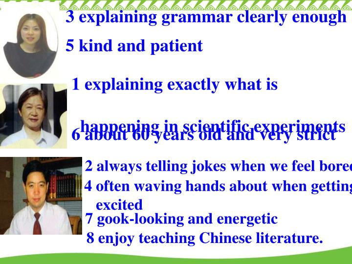 3 explaining grammar clearly enough